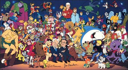 Hanna-barbera character collage