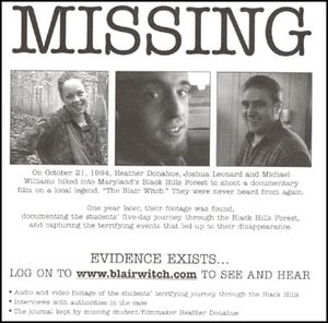 Blair witch_missing poster_white