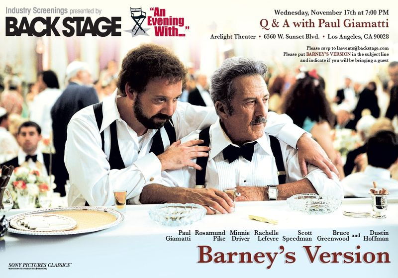 An evening with barneys version