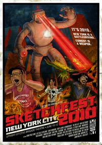 Sketchfest nyc 2010 poster