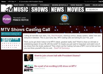 Obama-Town-Hall-On-MTV-Casting-Calls-Site-
