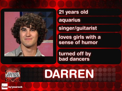 Darren criss_fuse dating show