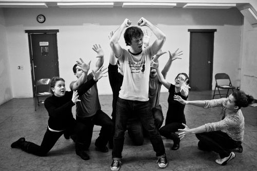 Spidey Project_cast rehearsal b&w