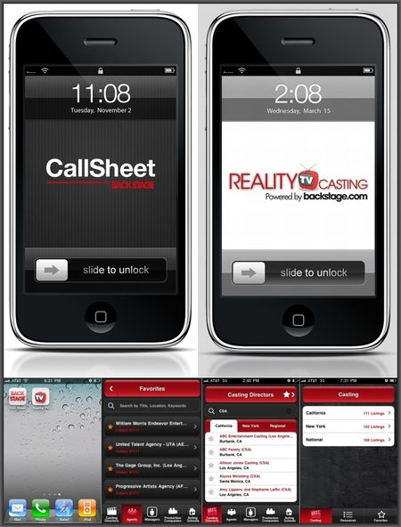 BackStage-Apps-Reality-and-Call-Sheet-Combo-iPhone-Examples-both-apps