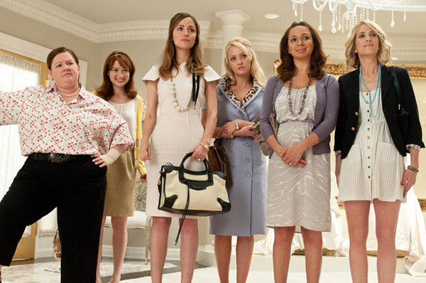 Melissa McCarthy, Ellie Kemper, Rose Byrne, Maya Rudolph and Kristen Wiig in  Bridesmaids movie image_03
