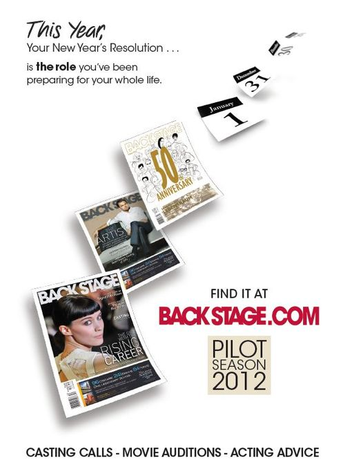 Back Stage_New Years Resolution Subscription Ad