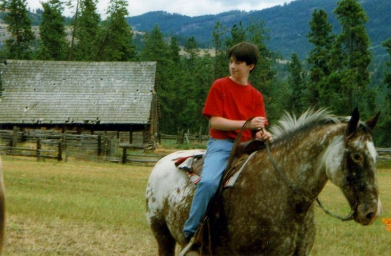 Cropped joel on horse